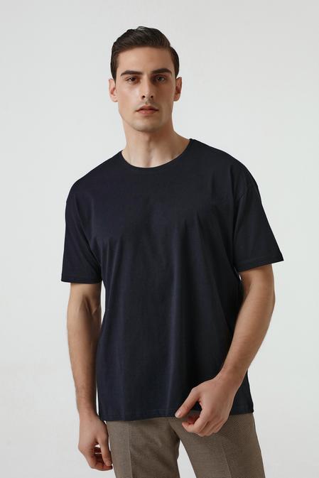 Ds Damat Oversize Lacivert T-shirt - 8682445062571   D'S Damat