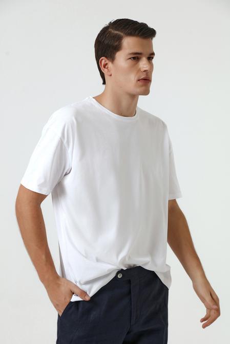 Ds Damat Oversize Beyaz T-shirt - 8682445062618 | D'S Damat