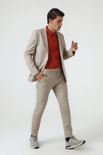 Twn Slim Fit Bej Düz Takım Elbise - 8681779929239 | D'S Damat