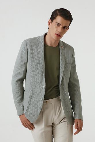 Twn Slim Fit Yeşil Kumaş Ceket - 8682060355430 | D'S Damat