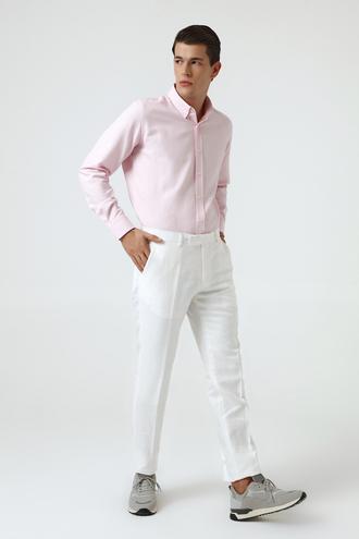 Ds Damat Slim Fit Beyaz Kumaş Pantolon - 8681779349402 | D'S Damat