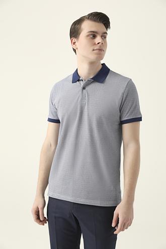 Ds Damat Regular Fit Lacivert Baskılı T-shirt - 8682060699084 | D'S Damat