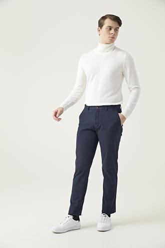 Twn Slim Fit Lacivert Çizgili Chino Pantolon - 8682060157874 | D'S Damat