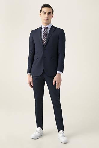 Tween Slim Fit Lacivert Düz Takım Elbise - 8682364641208 | Damat Tween