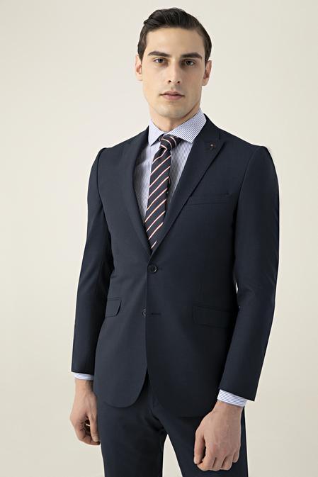 Tween Slim Fit Lacivert Düz Takım Elbise - 8682364511761 | Damat Tween