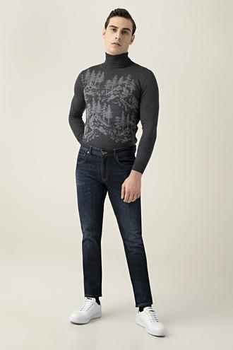 Tween Super Slim Fit İndigo Denim Pantolon - 8681649988441 | Damat Tween