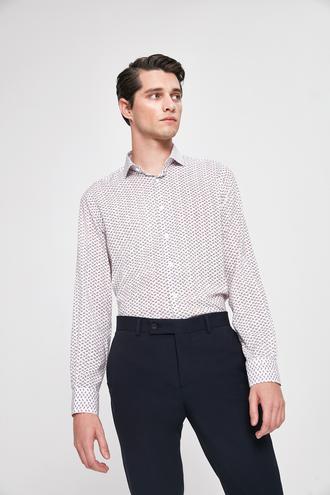 Twn Slim Fit Beyaz Baskılı Gömlek - 8682445012804   D'S Damat