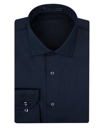 Ds Damat Slim Fit Lacivert Düz Gömlek - 8682445046861 | D'S Damat