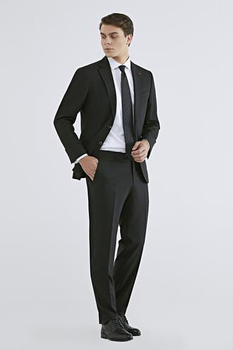 Ds Damat Slim Fit Siyah Düz Travel Takım Elbise - 8681779985389 | D'S Damat