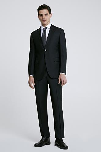 Ds Damat Regular Fit Siyah Düz Travel Takım Elbise - 8682445052510 | D'S Damat