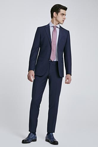 Ds Damat Regular Fit Lacivert Düz Travel Takım Elbise - 8682060047670 | D'S Damat