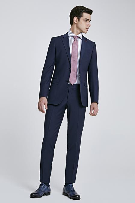 Ds Damat Regular Fit Lacivert Düz Travel Takım Elbise - 8682060047670   D'S Damat
