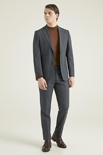 Ds Damat Slim Fit Gri Kaz Ayağı Takım Elbise - 8682060898937 | D'S Damat