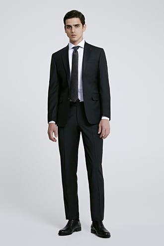 Ds Damat Slim Fit Siyah Düz Travel Takım Elbise - 8682445053913 | D'S Damat