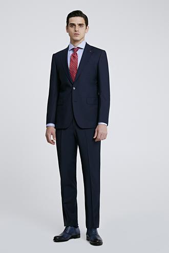 Ds Damat Slim Fit Lacivert Düz Travel Takım Elbise - 8682445054392 | D'S Damat