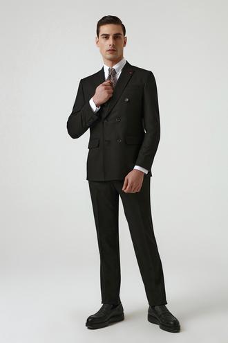 Ds Damat Slim Fit Siyah Düz Takım Elbise - 8682445178760 | D'S Damat