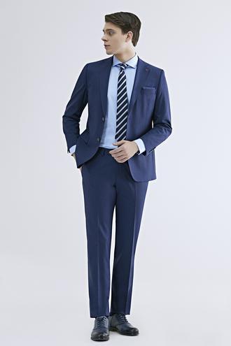 Ds Damat Comfort Fit Saks Mavi Düz Travel Takım Elbise - 8682445053975 | D'S Damat