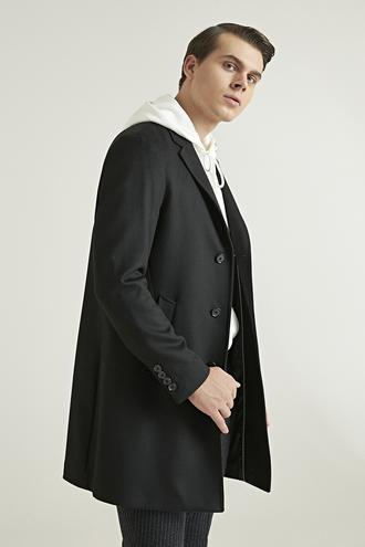 Ds Damat Regular Fit Siyah Palto - 8682060520777 | D'S Damat