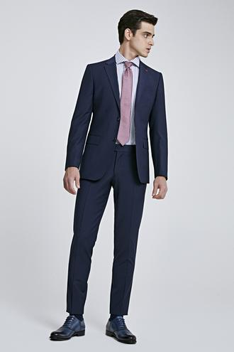 Ds Damat Regular Fit Lacivert Düz Travel Takım Elbise - 8682445052305 | D'S Damat