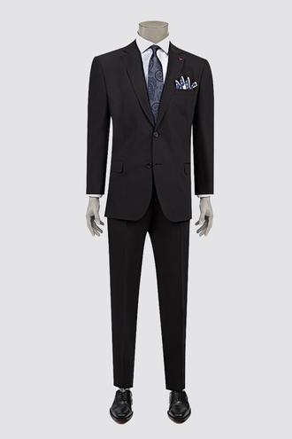 Ds Damat Comfort Comfort Siyah Düz Takım Elbise - 8681779160403 | D'S Damat