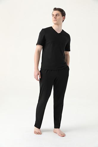 Ds Damat Regular Fit Siyah Pijama Takımı - 8682445223217 | D'S Damat