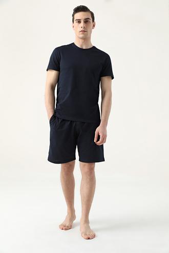 Ds Damat Regular Fit Lacivert Düz Pijama Takımı - 8682445223392 | D'S Damat