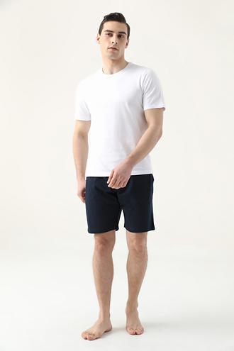 Ds Damat Regular Fit Beyaz Düz Pijama Takımı - 8682445223521 | D'S Damat