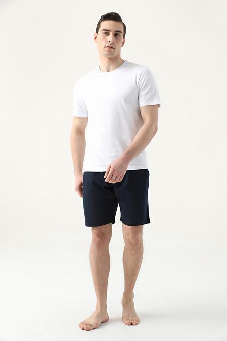 Ds Damat Regular Fit Beyaz Düz Pijama Takımı - 8682445223521   D'S Damat
