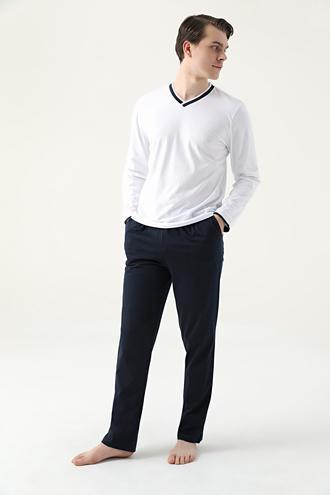 Ds Damat Regular Fit Beyaz Pijama Takımı - 8682445224498 | D'S Damat
