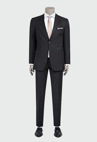 Ds Damat Slim Fit Slim Fit Antrasit Düz Takım Elbise - 8681779207979 | D'S Damat