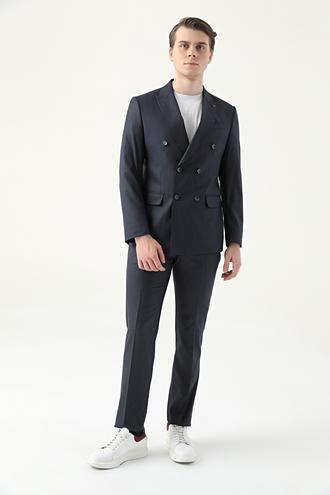Ds Damat Slim Fit Lacivert Düz Takım Elbise - 8682445179187 | D'S Damat