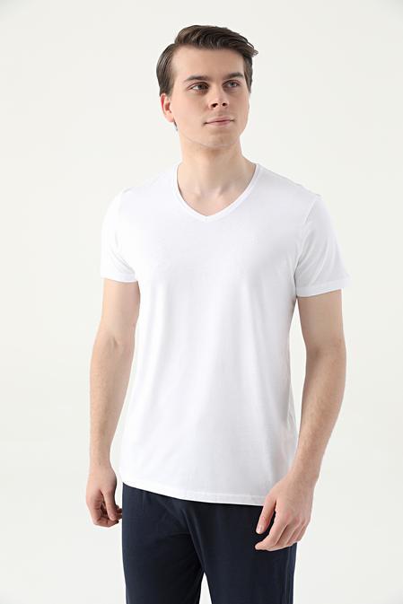 Damat Beyaz Örme Pijama Üst - 8682364744404 | Damat Tween