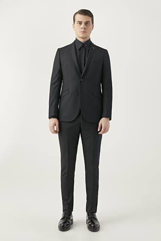 Twn Slim Fit Siyah Düz Takım Elbise - 8682060178220 | D'S Damat