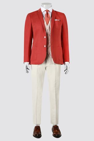 Twn Slim Fit Kırmızı Kombinli Takım Elbise - 8681778921180 | D'S Damat
