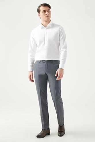 Twn Slim Fit Antrasit Kaz Ayağı Kumaş Pantolon - 8682060874061 | D'S Damat