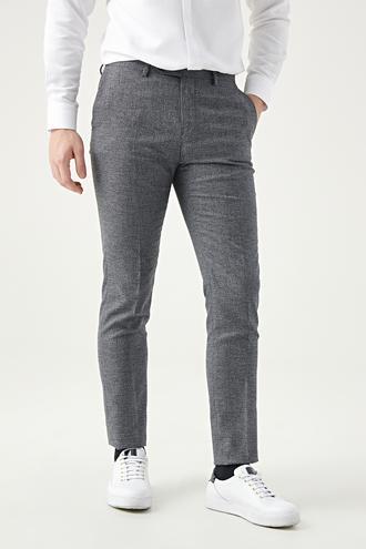 Twn Slim Fit Antrasit Armürlü Kumaş Pantolon - 8682060877444   D'S Damat