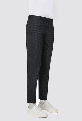 Twn Slim Fit Lacivert Kareli Kumaş Pantolon - 8682445095210 | D'S Damat