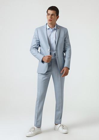 Twn Slim Fit Mavi Düz Takım Elbise - 8681779929178 | D'S Damat