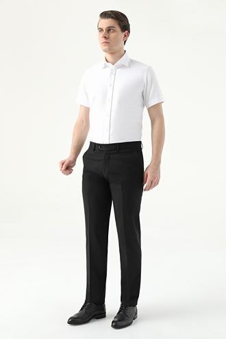 Ds Damat Slim Fit Siyah Düz Kumaş Pantolon - 8682445177688 | D'S Damat