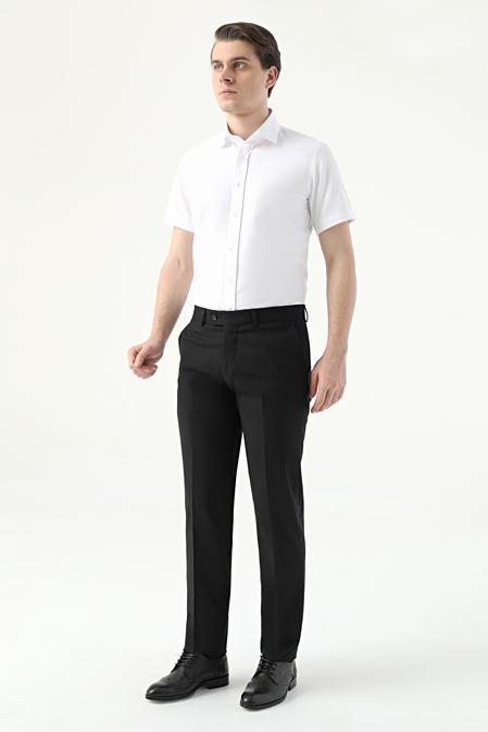Ds Damat Slim Fit Siyah Düz Kumaş Pantolon - 8682445177688   D'S Damat