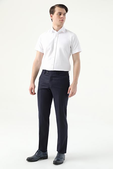 Ds Damat Slim Fit Lacivert Düz Kumaş Pantolon - 8682445177770 | D'S Damat