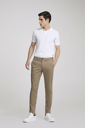 Twn Slim Fit Bej Armürlü Chino Pantolon - 8682060592590 | D'S Damat