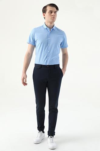 Twn Slim Fit Lacivert Armürlü Chino Pantolon - 8682445306897 | D'S Damat