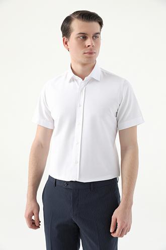 Ds Damat Slim Fit Beyaz Düz Gömlek - 8682445327205 | D'S Damat