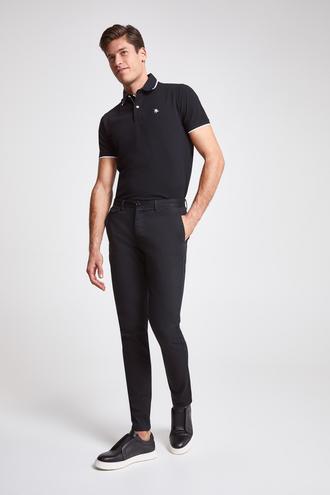 Twn Slim Fit Siyah Armürlü Chino Pantolon - 8682445306781 | D'S Damat