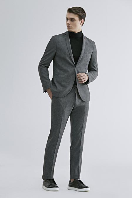 Twn Slim Fit Antrasit Armürlü Takım Elbise - 8682445299038 | D'S Damat