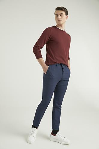 Ds Damat Slim Fit Lacivert Sihirli Jogger Pantolon - 8682445304763 | D'S Damat