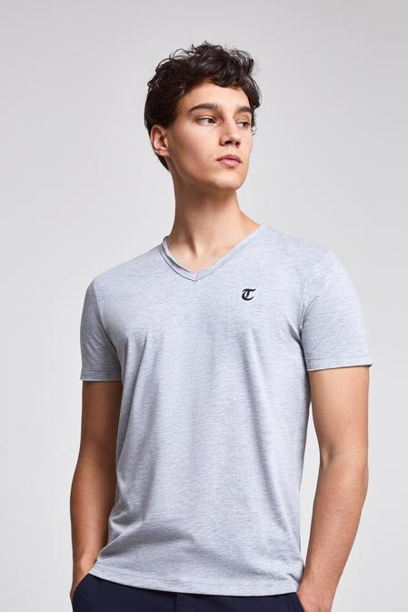 Twn Slim Fit Gri Düz T-shirt - 8682445308945   D'S Damat