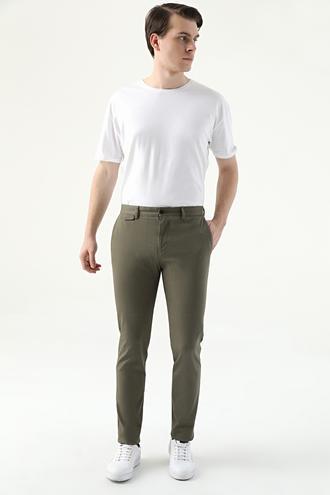 Twn Slim Fit Yeşil Armürlü Chino Pantolon - 8682445306989 | D'S Damat