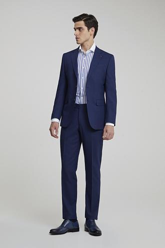 Ds Damat Slim Fit Lacivert Ekoseli Takım Elbise - 8682445345988 | D'S Damat